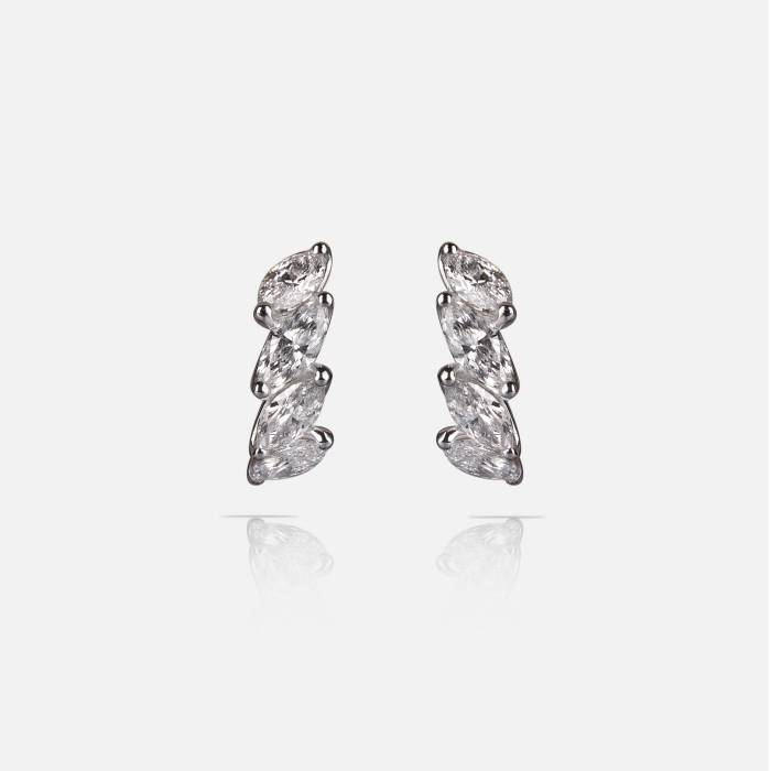 Navette diamnd earrings